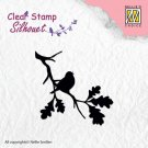 Nellies Choice Clearstamp - Silhouette Birdsong #2