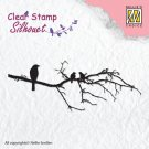 Nellies Choice Clearstamp - Silhouette Branch with Birds
