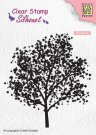 Nellies Choice Clearstamp - Silhouette Tree