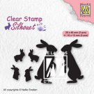 Nellies Choice Clear Stamps - Silhouette Rabbits