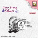 Nellies Choice Clear Stamps - Silhouette Blooming Grass #3