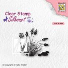 Nellies Choice Clear Stamps - Silhouette Blooming Grass #4