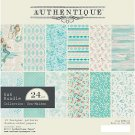 "Authentique 6""x6"" double-sided Cardstock Pad - Sea-Maiden (24 sheets)"