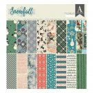 "Authentique 12""x12"" Double-Sided Cardstock Pad - Snowfall (18 sheets)"