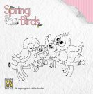Nellies Choice Clear Stamps - Spring Birds Happy Family