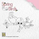 Nellies Choice Clear Stamps - Spring Birds Ready to Fly Away