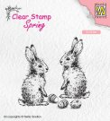 Nellies Choice Clearstamp - Spring Two Hares