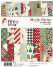 "Simple Stories 6""x8"" Double-Sided Paper Pad - Merry & Bright (24 sheets)"