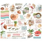 Simple Stories Vintage Coastal Bits & Pieces Die-Cuts (58 pack)