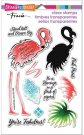 Stampendous Perfectly Clear Stamps - Flamingo Messages