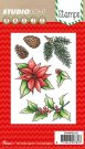 Studio Light A6 Clear Stamp Set - Poinsettia #152