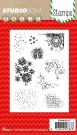 Studio Light A6 Clear Stamp Set - Christmas Mixed Media #157