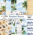 "ScrapBoys 12""x12"" Paper Set - Summer Breeze (12 sheets+cut out elements)"