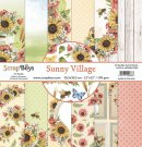 "Scrapboys 12""x12"" Paper Set - Sunny Village (12 sheets+cut out elements)"