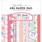 "Echo Park 6""x6"" Paper Pad - It's Your Birthday Girl (24 sheets)"