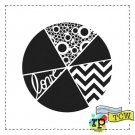 "Crafters Workshop 6""x6"" Template - Pie Chart"
