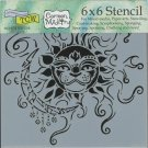 "Crafters Workshop 6""x6"" Template - Sun & Moon"