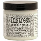 Tim Holtz Distress Crackle Paint Large Jar - Clear Rock Candy (118ml)