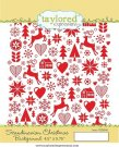 Taylored Expressions Cling Stamp - Scandinavian Christmas Background
