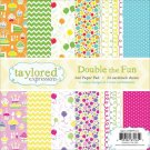 "Taylored Expressions 6""x6"" Paper Pad - Double The Fun (24 sheets)"
