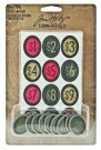 Tim Holtz Idea-ology Collection - Cash Keys Oval Charms