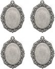 Tim Holtz Idea-Ology Cameo Frames - Antique Nickel (4 pack)