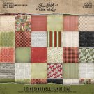 "Tim Holtz Idea-Ology 8""x8"" Paper Stash - Tidings (24 sheets)"
