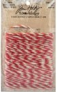 Tim Holtz Idea-Ology Jute String - Christmas Red & Cream (8 yards)