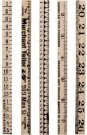 Tim Holtz Idea-Ology Wooden Ruler Pieces (5 pack)