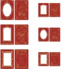 Tim Holtz Idea-Ology Cabinet Card Frames - Christmas (6 pack)