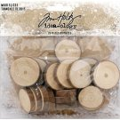 Tim Holtz Idea-Ology Wood Slices - Natural Raw Edge (20 pack)