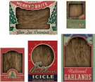 Tim Holtz Idea-Ology Vignette Box Tops - Christmas (5 pack)