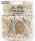 Tim Holtz Idea-Ology Beaded Berry Stems - White (50 pack)