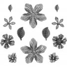Tim Holtz Idea-Ology Metal Adornments - Floral (12 pack)
