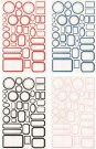 Tim Holtz Idea-Ology Classic Label Stickers - Red/White (152 pack)