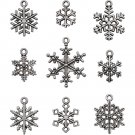 Tim Holtz Idea-Ology Metal Adornments - Antique Nickel Snowflakes (9 pack)