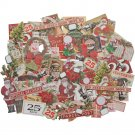 Tim Holtz Idea-Ology Ephemera Pack - Snippets Tiny Die-Cuts/Christmas (81 pack)