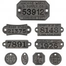 Tim Holtz Idea-Ology - Metal Factory Tags (9 pack)