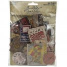 Tim Holtz Idea-Ology Chipboard Baseboards - Junk Drawer (40 pack)