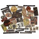 Tim Holtz Idea-ology Chipboard Baseboards - Halloween (36 pack)