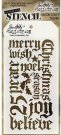 Tim Holtz Layered Stencil - Holiday Script