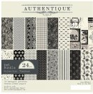 "Authentique 6""x6"" Double-Sided Cardstock Pad - Timeless (24 sheets)"