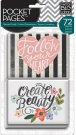Me & My Big Ideas Pocket Pages Themed Cards - Fresh Floral (72 pack)