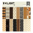 "Authentique 12""x12"" Cardstock Paper Pad - Twilight (18 sheets)"