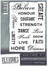 Crafters Companion Textures Elements A6 Unmounted Rubber Stamps - Words to Inspire 2