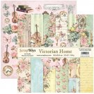 "ScrapBoys 12""x12"" Paper Set - Victorian Home (12 sheets+cut out elements)"