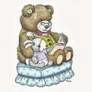 Stampavie Clear Stamps - Bear Reading to Bunny