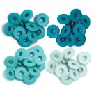 We R Memory Keepers - Aqua Wide Eyelets (40 pack)