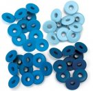 We R Memory Keepers - Blue Wide Eyelets (40 pack)
