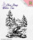 Nellies Choice Clearstamp - Winter Time Waterfall